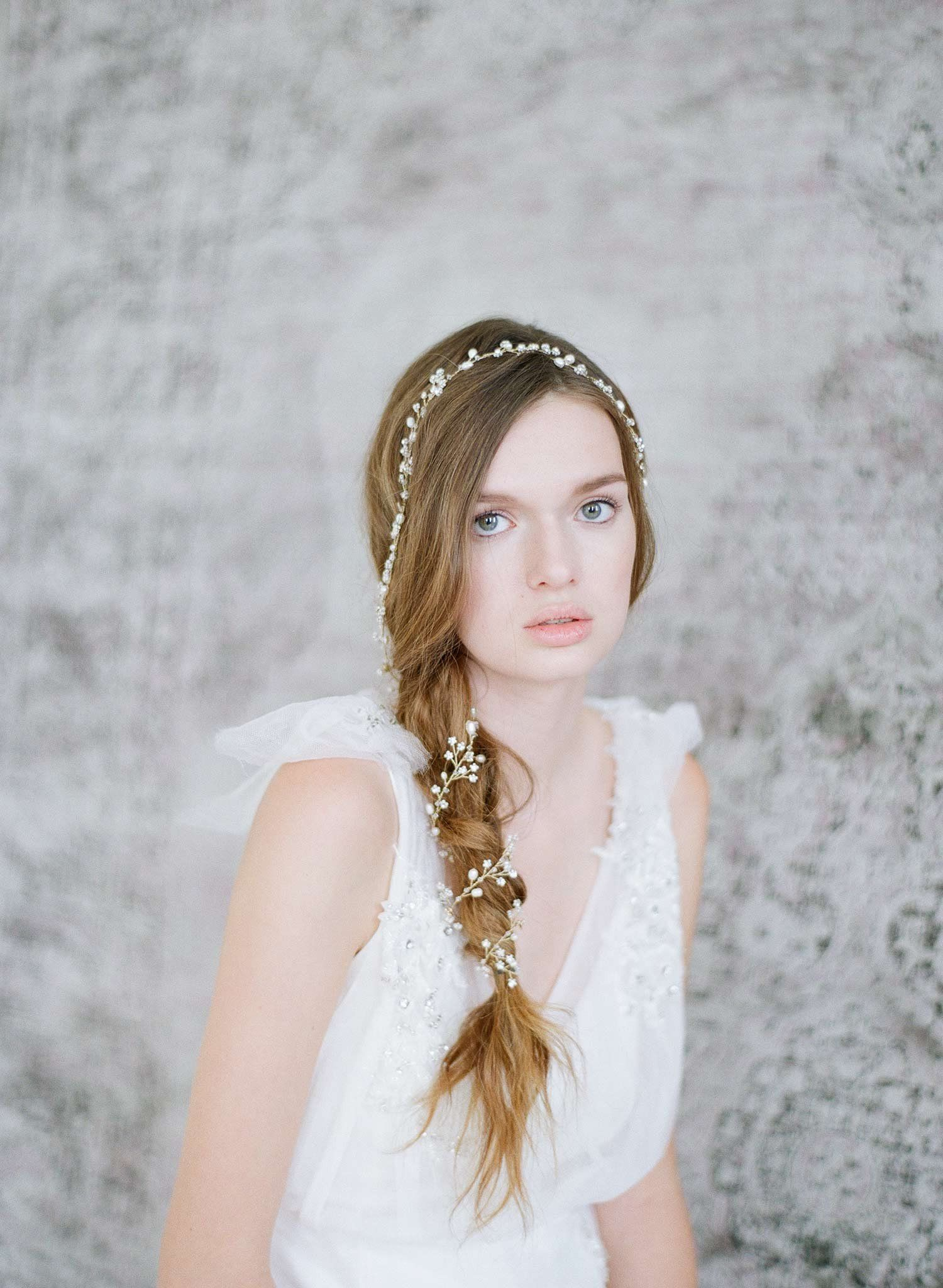 Extra long petite blossom hair vine | Headpieces, Bridal accessories ...