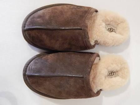3c02d46c5b4 Ugg S/n 5776 Brown Suede Scuffs Sheepskin Slippers House Shoes Men's ...