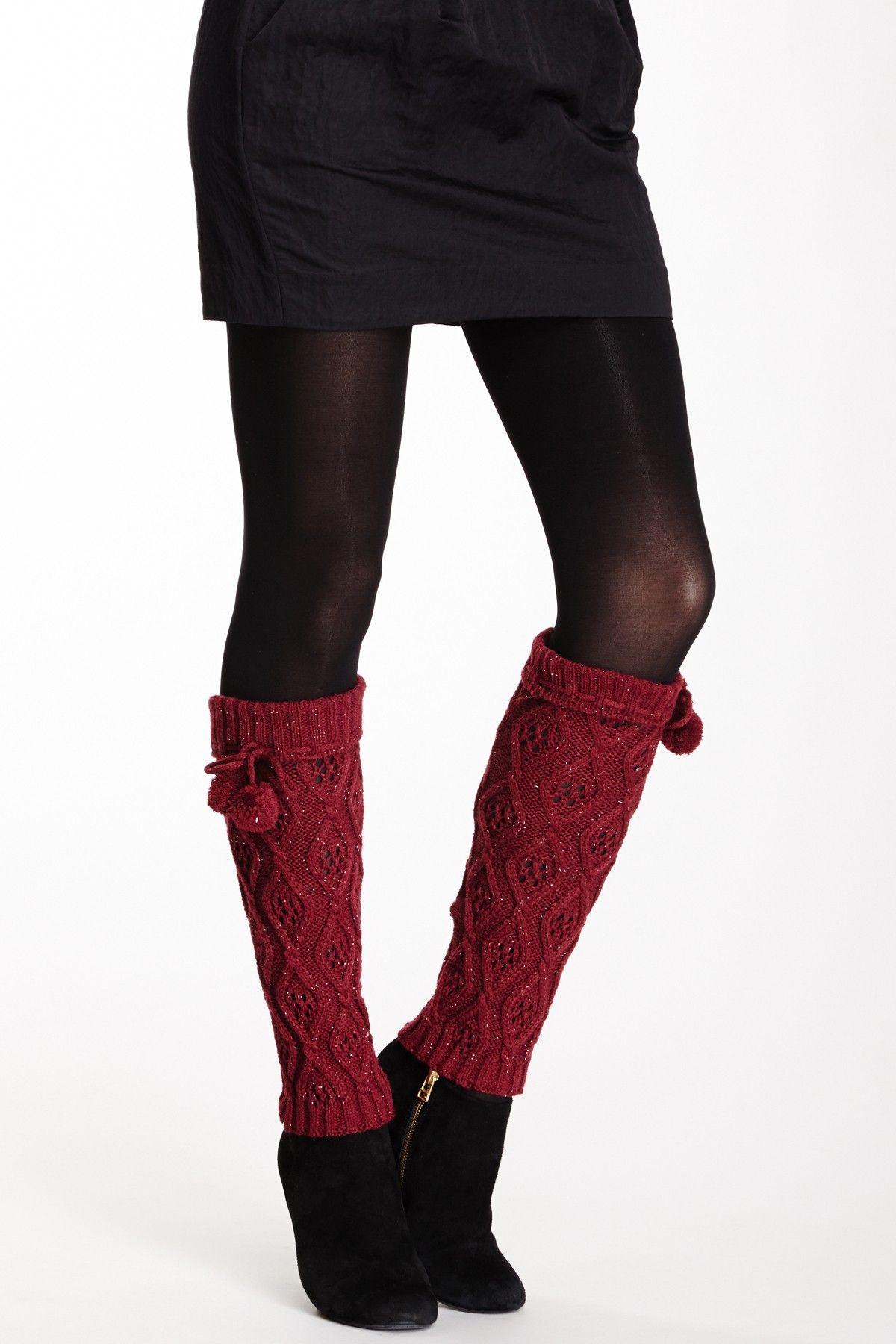 Cozy Cable Lurex Leg Warmer Fashion, My style, Closet