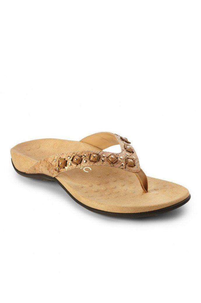 Gold Vionic Women'S Floriana Toe Post Sandal Cork