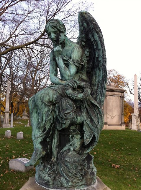 You Could Make That: ANGEL STATUES AT FOREST HOME CEMETERY