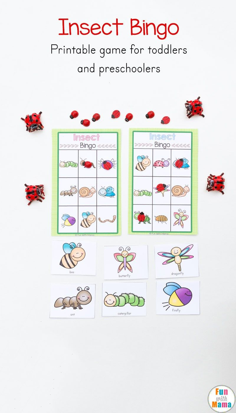 Insect Printable Bingo Game For Kids Free Printable Activities
