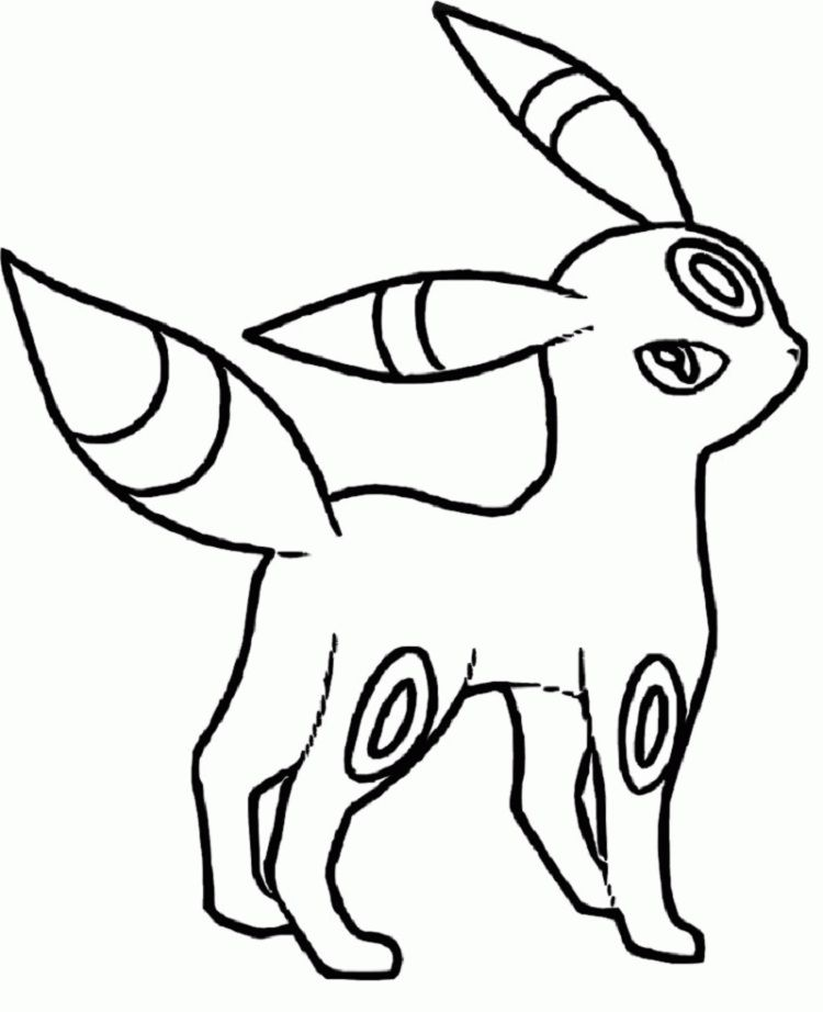 pokemon coloring pages umbreon | Coloring Pages For Kids in 2018 ...