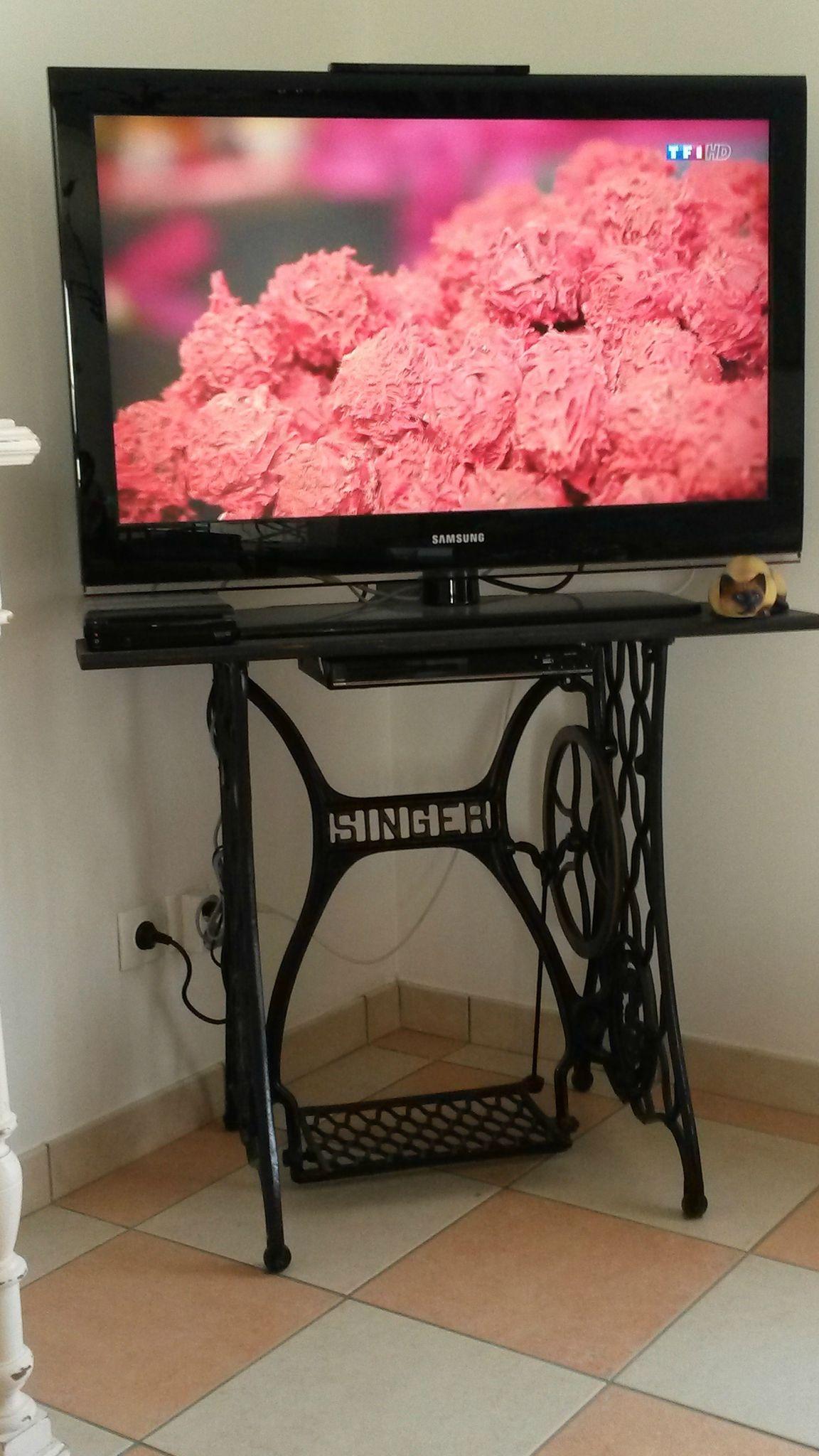 Ancien Singer D Tourn E En Meuble Tv Deco Pinterest # Meuble Tv Ultra Compact