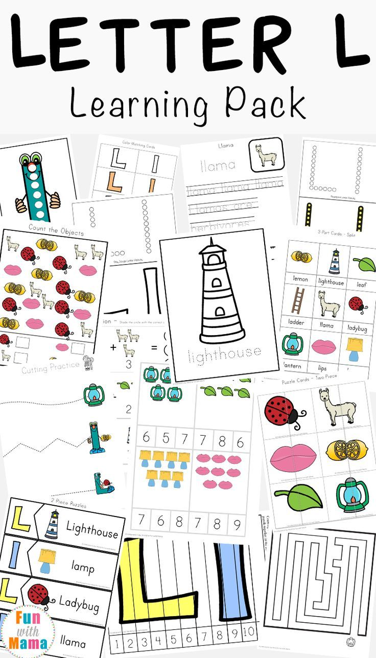 Letter L Worksheets Words Fun With Mama Letter L Worksheets Preschool Letters Homeschool Worksheets [ 1288 x 736 Pixel ]