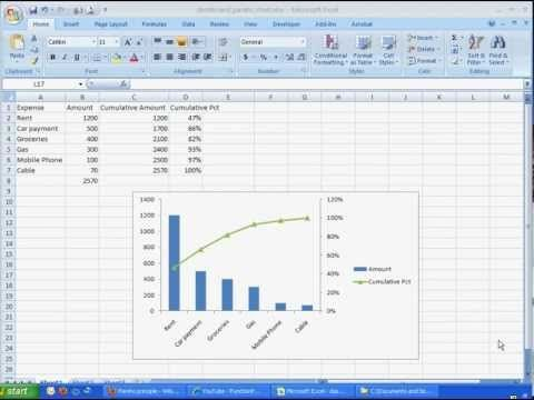 HttpMyexcelchartsBlogspotCom How To Create A Simple Pareto
