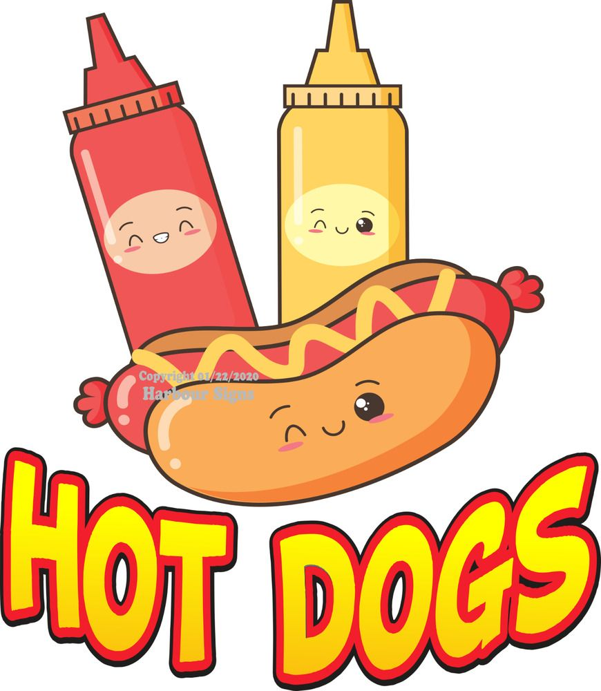 All American Hot Dogs DECAL CHOOSE YOUR SIZE Food Truck Concession Sticker