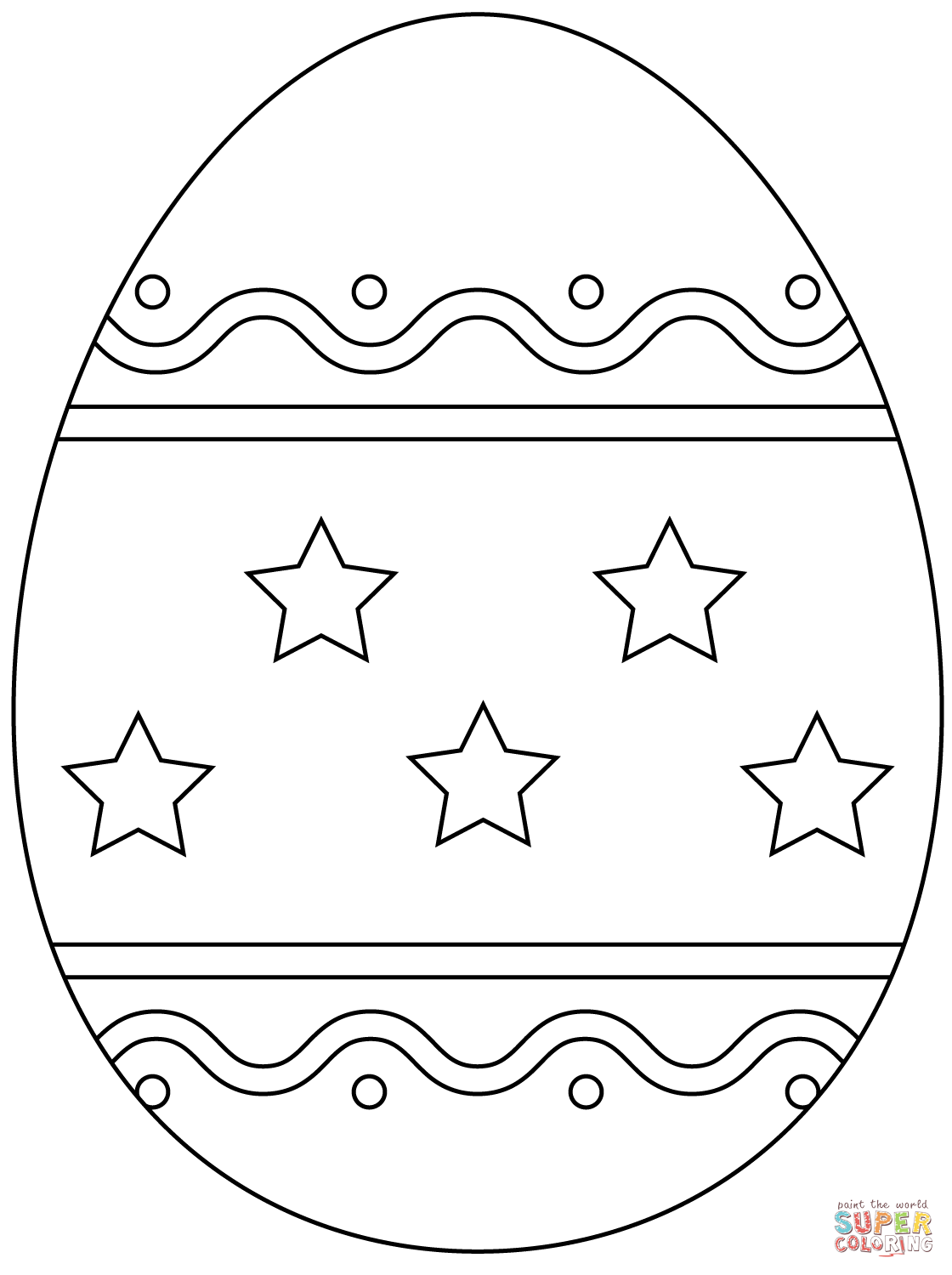 Easter Egg With Simple Pattern Super Coloring Easter Egg Coloring Pages Easter Coloring Book Easter Coloring Pages