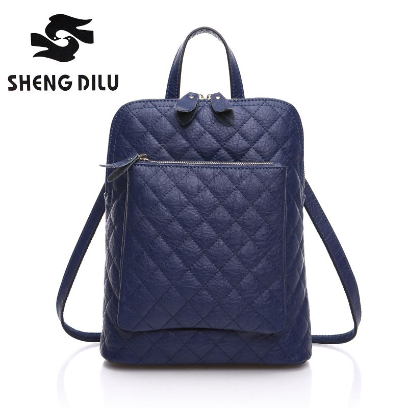 $100.00 (Buy here: http://appdeal.ru/emia ) 2016 New Arrival Elegant Diamond Lattice Women's Backpacks Fashion Brand 100% Genuine Leather Women Bags for just $100.00