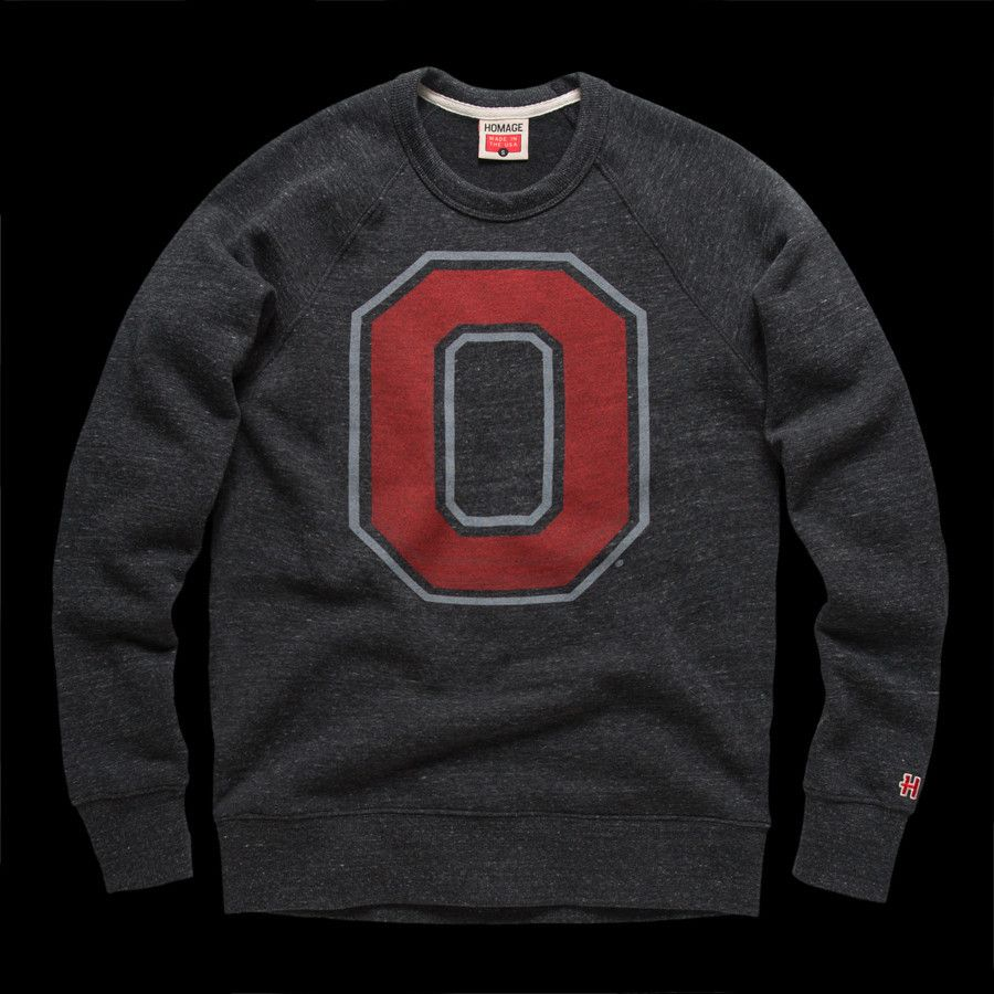 Block O Crewneck Sports Attire Vintage Outfits Osu Sweatshirt [ 900 x 900 Pixel ]