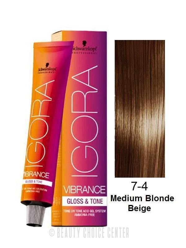 67eda013e3 $8.99 - Schwarzkopf Igora Vibrance Gloss & Tone Hair Color 7-4 (Medium  Blonde Beige) #ebay #Fashion