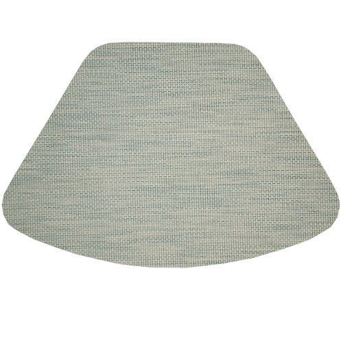 Seafoam Green/Tan Wipeable Wedge-Shaped Placemat for Round Tables by Sweet Pea Linens. $6.95. The wedge-shaped placemat is designed especially for round tables! They can be used both indoors and outdoors. Sold individually.. Wipe Clean.. Measures approximately 13 inches deep, 9 inches wide at the top and 20 inches at the bottom.. 100% PVC coated Polyester.. Single layer, not vinyl, but wipe clean and are easy care.. Seafoam Green and Tan woven in a stripe pattern. Made from a ...