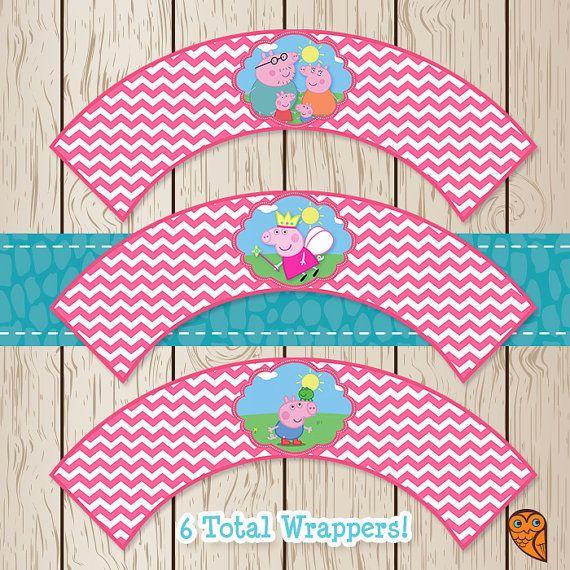 Printable Peppa Pig Cupcake Wrappers