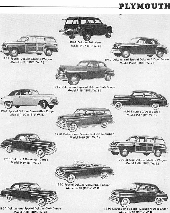 1949 1950 Plymouth Body Styles Plymouth Cars Classic Cars Vintage Cars 1950s