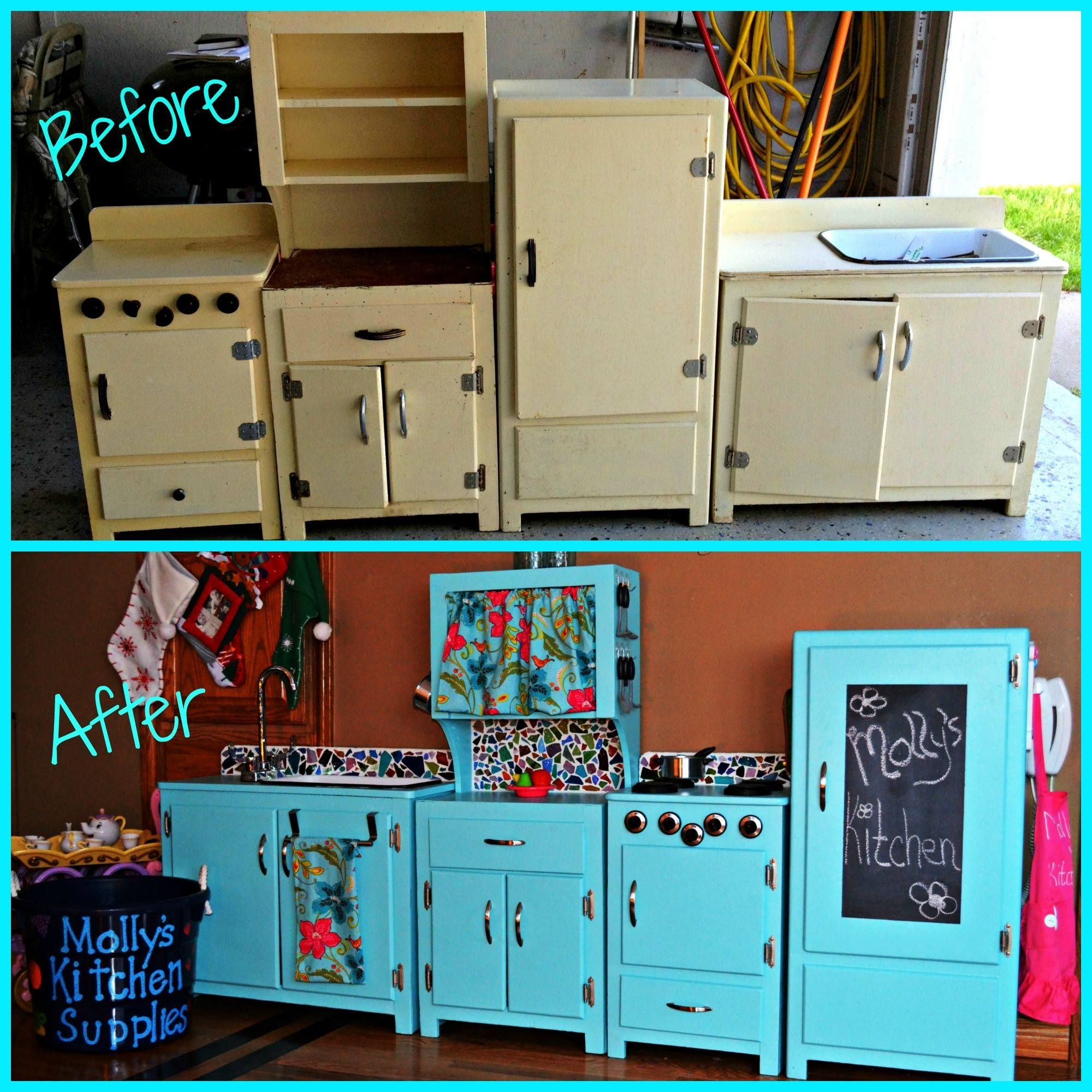 DIY, Restored, Vintage, Antique, Child, Mosaic, Chalkboard, Girl ...