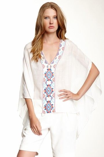 Embroidered Caftan Blouse by Love Stitch on @HauteLook