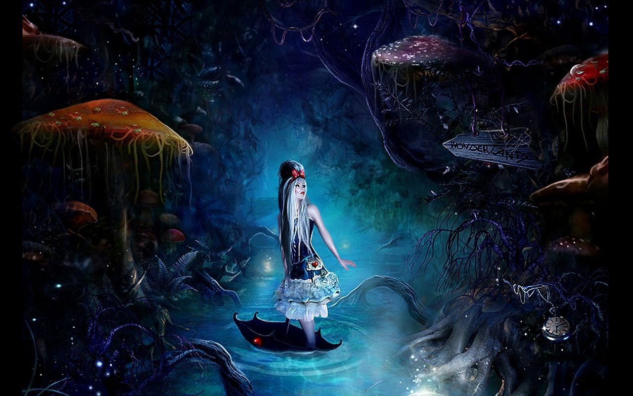 Fantasy Alice In Wonderland Wallpaper Alice In Wonderland
