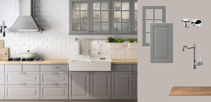 szara kuchnia ikea  Google Search  kitchen  Pinterest