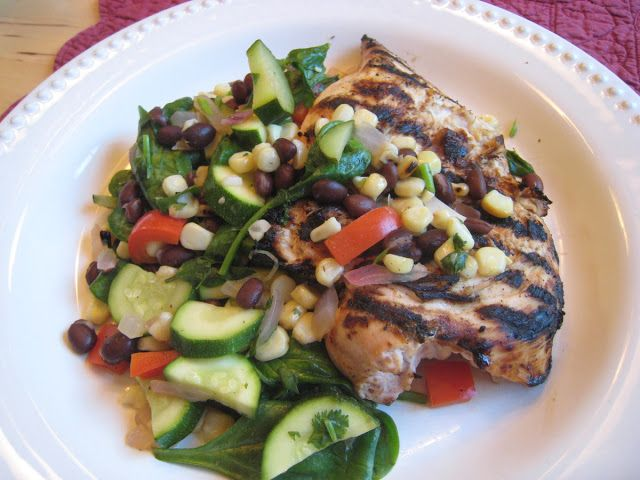 Wholesome Dinner Tonight: Honey-Lime Chicken with Warm Black Bean Salsa #honeylimechicken