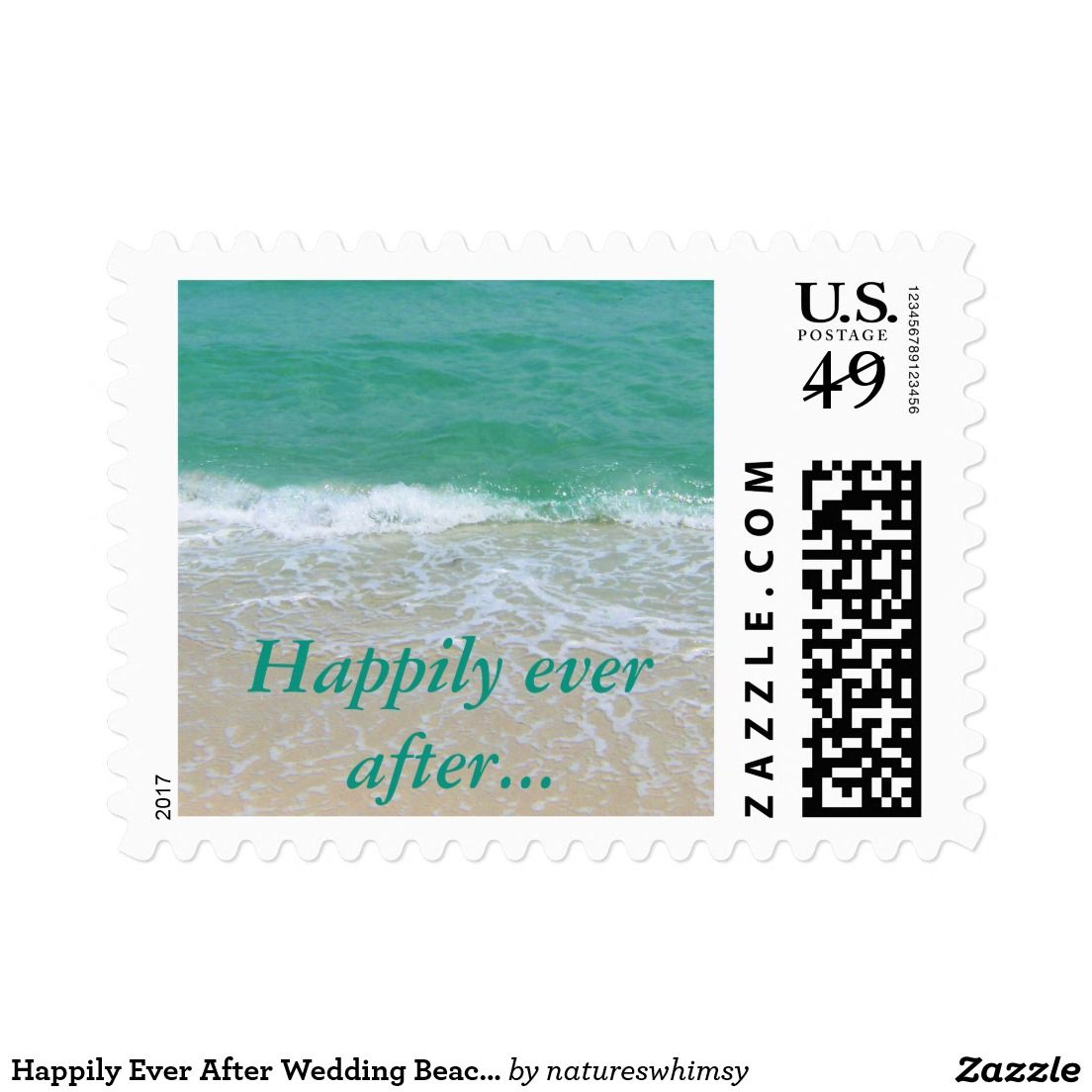 Happily Ever After Wedding Beach Stamp