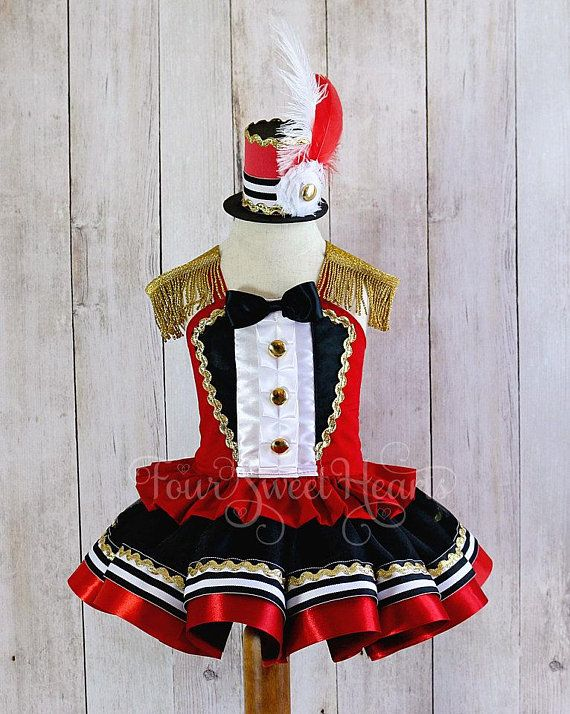 Girls Circus Costume , Carnival Outfit Girl, First Birthday Outfit Girl, Circus Dress, Girls Ringmaster Costume , Circus Birthday Girl #birthdayoutfit