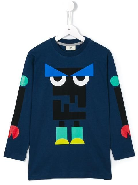 b944e6dc Fendi Kids 'Monster' T-shirt | kid tee | Kids fashion, Fendi, Fashion