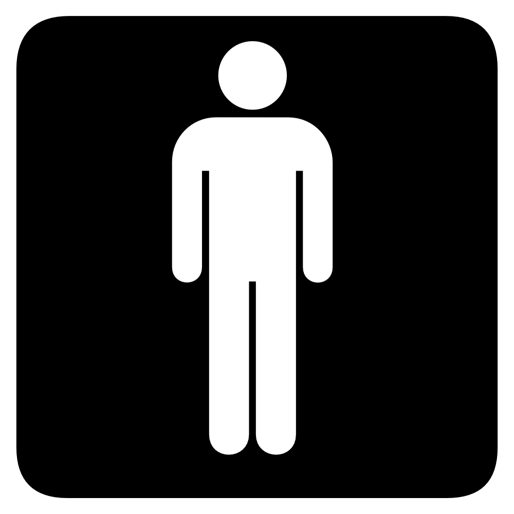 Male Bathroom Sign Print this free clip art image on a full