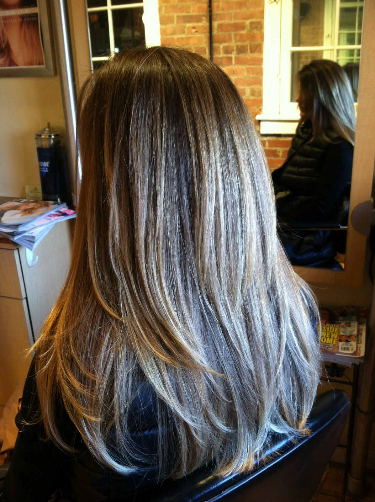 Color and cut by Lacee #spaatthegalleria #blowout #haircut #color
