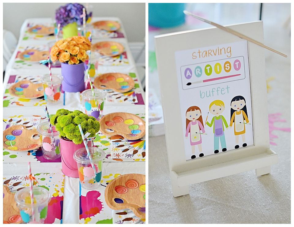 Ideas for a Kids Painting Party at Home - super cute!