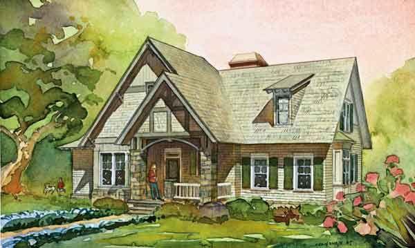 Downing Cottage - southernlivinghouseplans.com