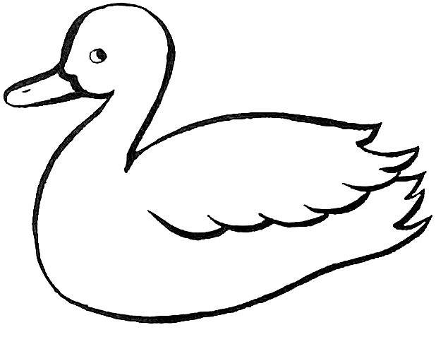 Duck Outline Az Coloring Pages Duck Drawing Basic Drawing For Kids Basic Drawing