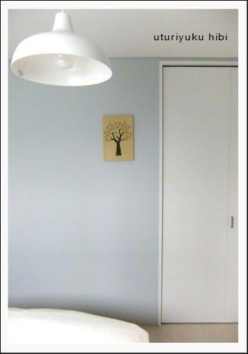 息子の部屋 ブルーグレーの壁紙の色について 壁紙 グレー 部屋壁紙 おしゃれ リビング インテリア