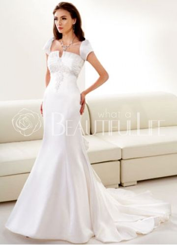 $235.99 Awesome Taffeta Strapless Mermaid #Wedding #Gown With Beading