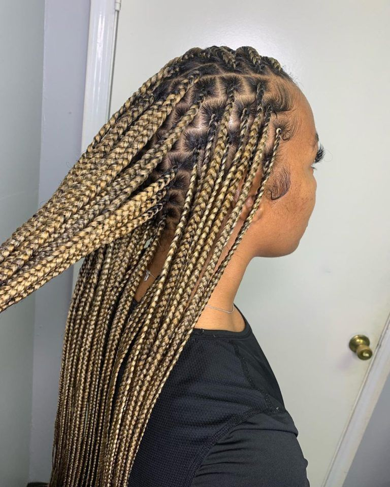 10++ Medium knotless braids with color ideas in 2021