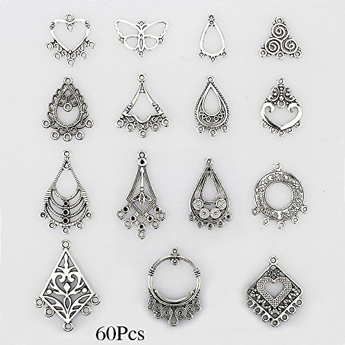 Lollibeads Tm Antiqued Tibetan Silver Earring Chandelier Jewelry Making Kit For Drop And Charm Pendant Orted Pack Pcs