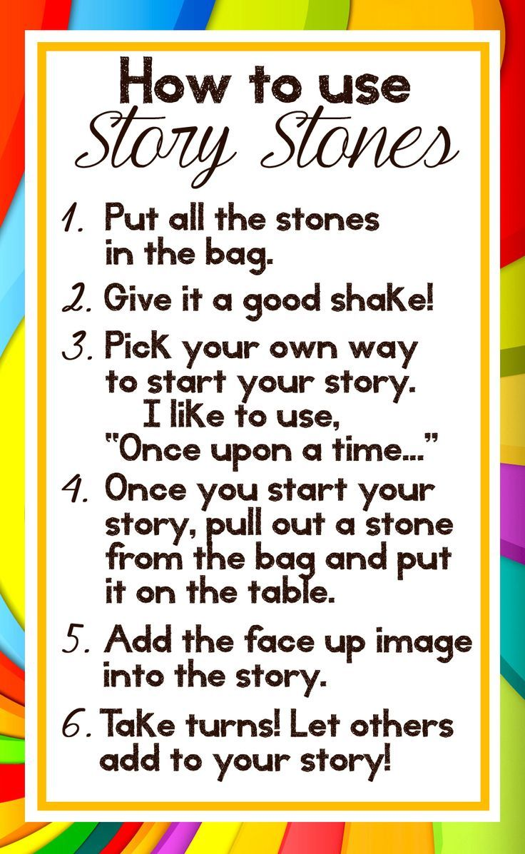 Printable Directions To Make Story Stones A Gift Story Stones