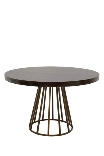 Four Hands Madison Round Dining Table Toasted Walnut With