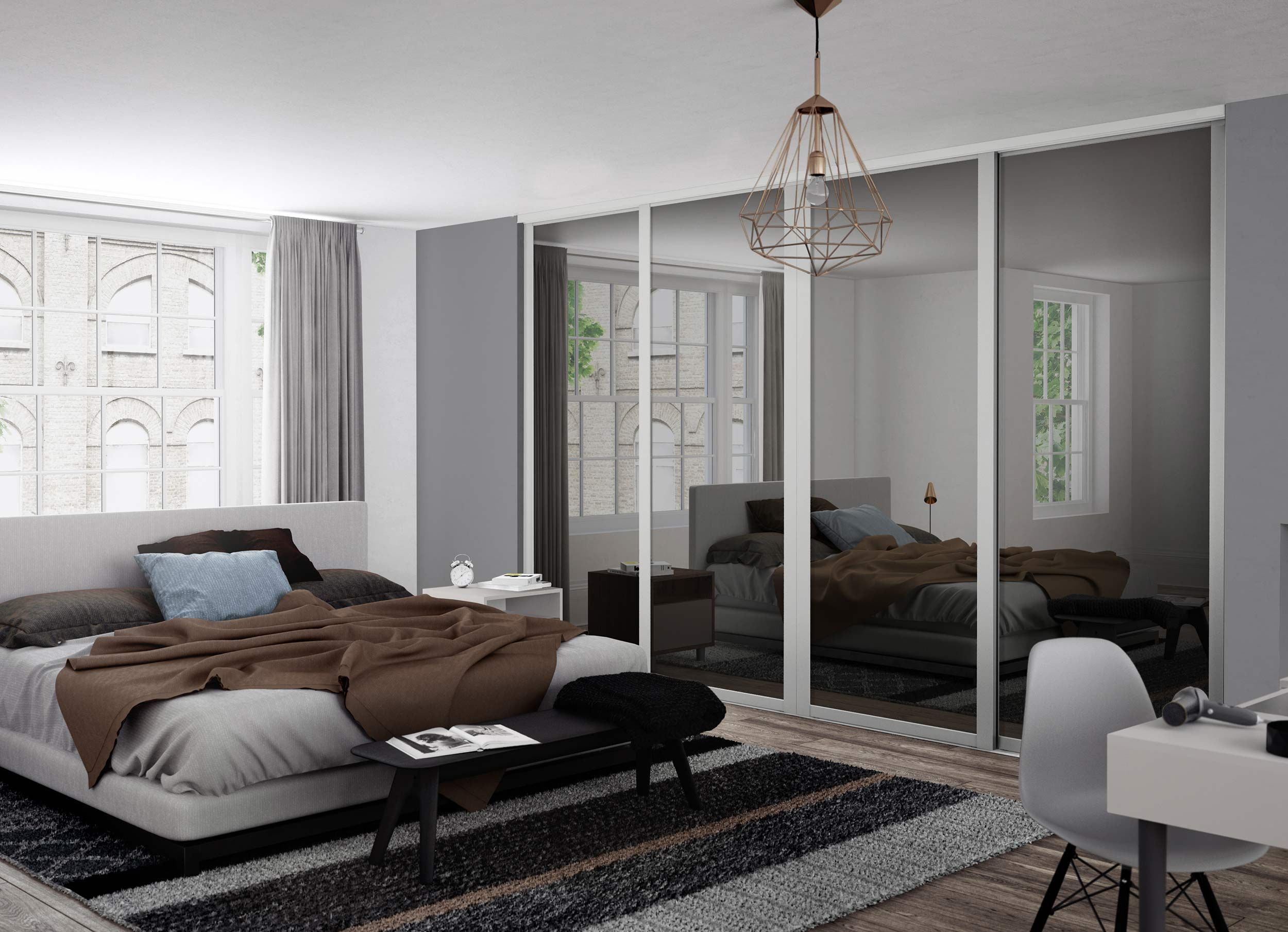 Enjoy the beauty of floor-to-ceiling mirrors with our ...