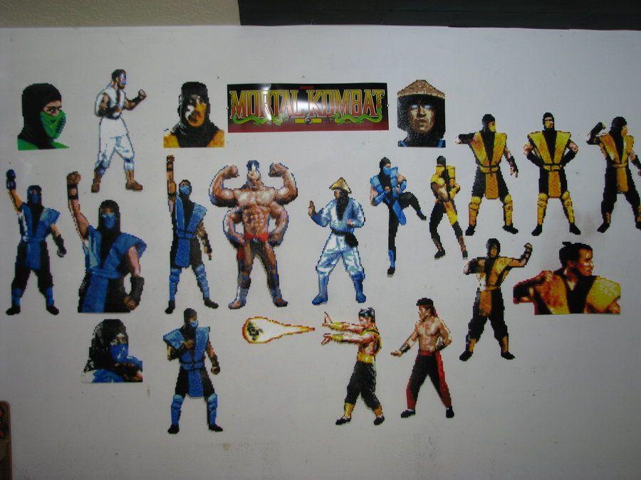 Mortal Kombat Bead Sprites by Buck-Chow-Simmons