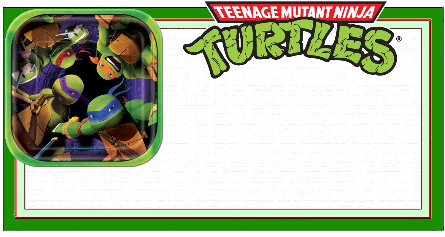 Ninja Turtle Invitation Template Invitations Birthday Party Free