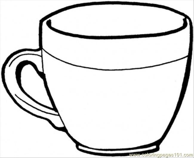 printable tea cup coloring pages - photo#1