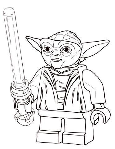 Lego Star Wars Master Yoda Coloring Page From Lego Star Wars