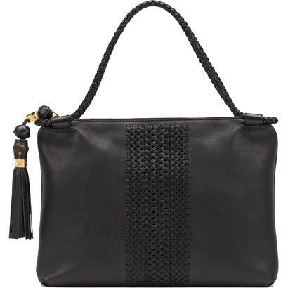 Gucci 263952 Ang1g 1000 Handmade Medium Shoulder Bag Black