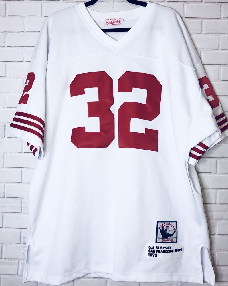 the best attitude f86e0 b3533 OJ Simpson Mitchell and Ness 49ers Vintage 1970's Football ...