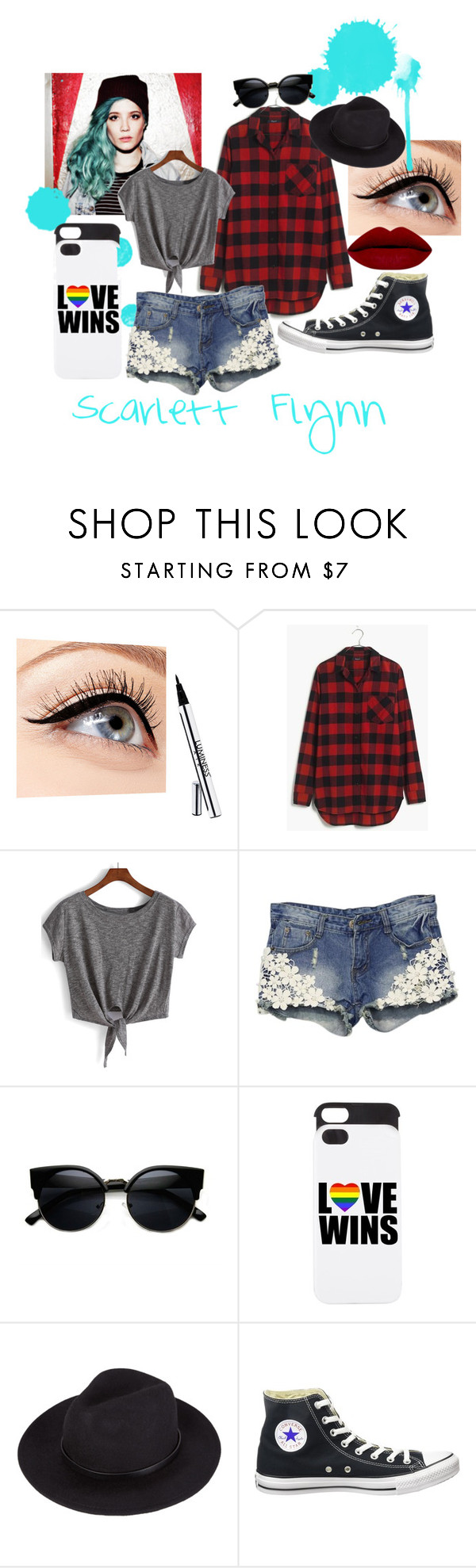 """""""Scarlett Catherine Flynn Outfit 1"""" by fashionforthefjords on Polyvore featuring Luminess Air, Madewell and Converse"""