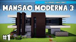 514 Mansoes No Minecraft Youtube Com Imagens Mansao Moderna