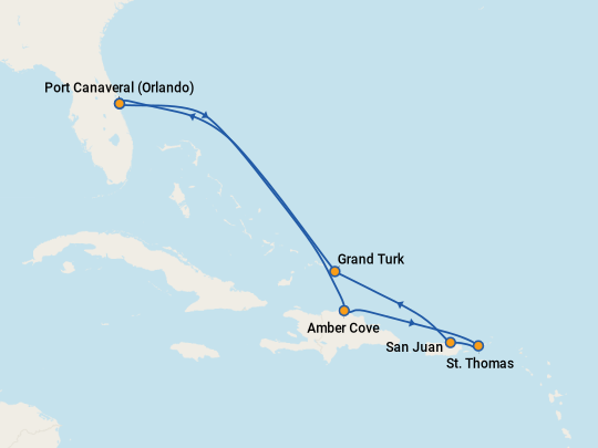 Carnival Breeze 7 Night Eastern Caribbean Cruise Itinerary