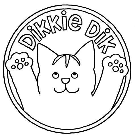 Dikkie Dik Outline Kleurplaten Dik Illustratie