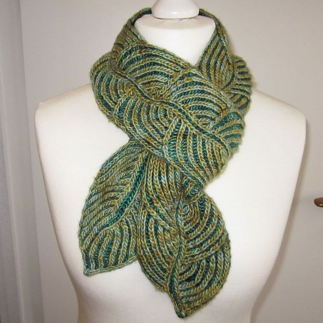 Hosta from Twist Collective by Nancy Marchant. See the other side of the scarf too.