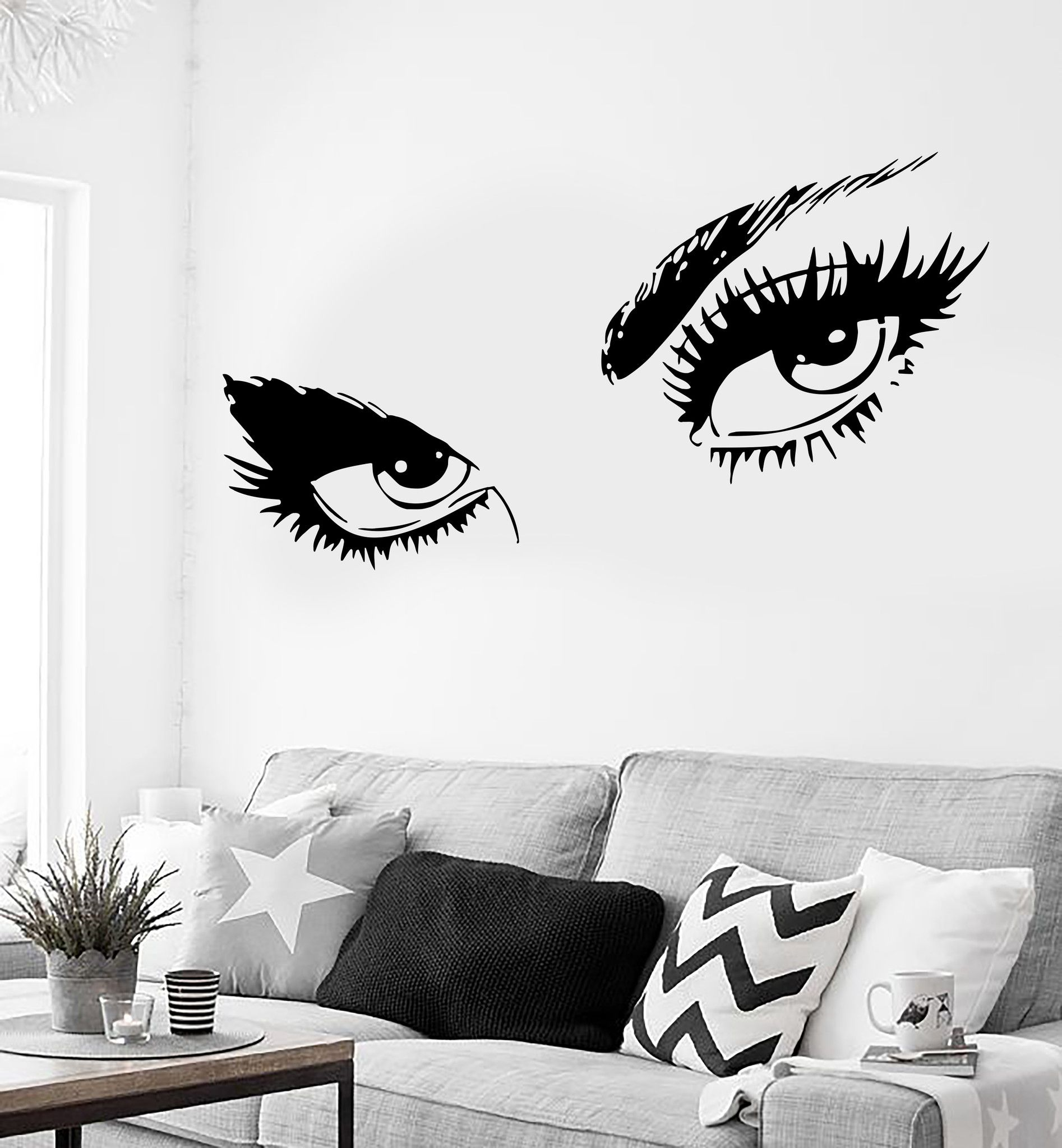 Wall Sticker Sexy Hot Eyes Girl Teen Woman Decal For